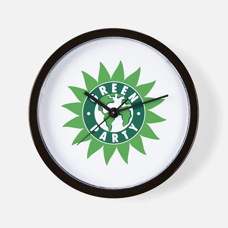 Green Party Logo (Sunflower/G Wall Clock