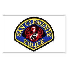 San Clemente Police Rectangle Decal