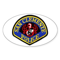 San Clemente Police Oval Decal