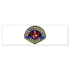 San Clemente Police Bumper Bumper Sticker
