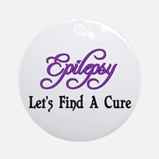 Epilepsy Let's Find Cure Ornament (Round)