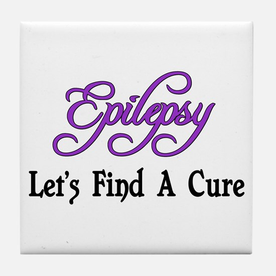 Epilepsy Let's Find Cure Tile Coaster