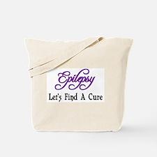 Epilepsy Let's Find Cure Tote Bag