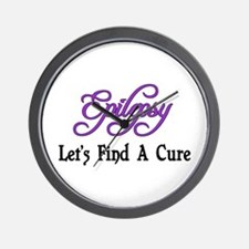 Epilepsy Let's Find Cure Wall Clock