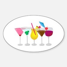 Mixed Drinks Oval Decal