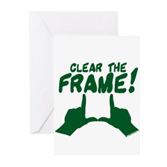 Clear the Frame! Greeting Cards (Pk of 20)
