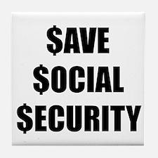 Save Social Security Tile Coaster