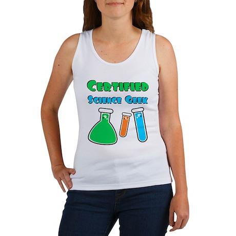 Certified Science Geek Women's Tank Top