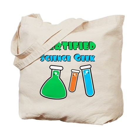 Certified Science Geek Tote Bag