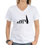 Windsurfer Evolution Women's V-Neck T-Shirt