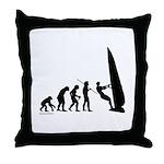 Windsurfer Evolution Throw Pillow