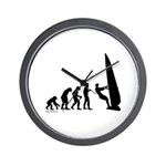 Windsurfer Evolution Wall Clock