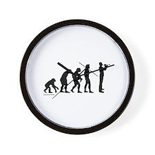 Trumpet Evolution Wall Clock
