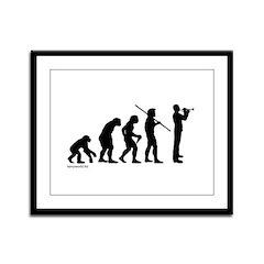 Trumpet Evolution Framed Panel Print
