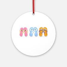 3 Pairs of Flip-Flops Keepsake (Round)
