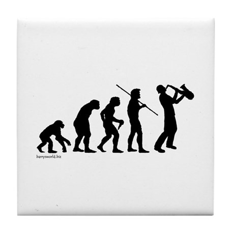 Sax Evolution Tile Coaster