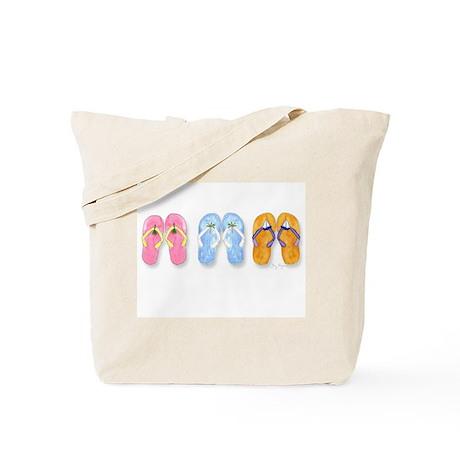 3 Pairs of Flip-Flops Tote Bag