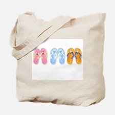 3 Pairs of Flip-Flops Tote Bag