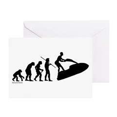Jet Ski Evolution Greeting Cards (Pk of 20)