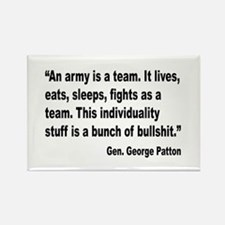 Patton Army Team Quote Rectangle Magnet