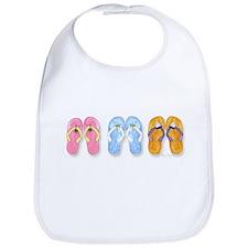 3 Pairs of Flip-Flops Bib