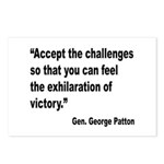Patton Accept Challenges Quote Postcards (Package
