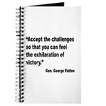 Patton Accept Challenges Quote Journal