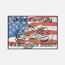 Motorcycle Season Rectangle Magnet
