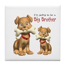 Dogs Big Brother Tile Coaster