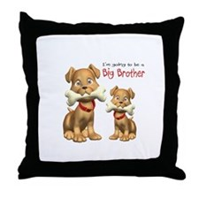 Dogs Big Brother Throw Pillow