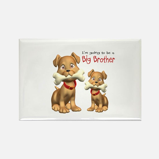 Dogs Big Brother Rectangle Magnet