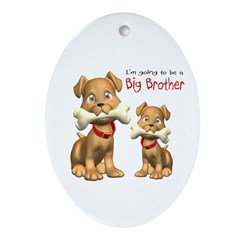 Dogs Big Brother Oval Ornament