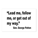 Patton Lead Follow Quote Postcards (Package of 8)