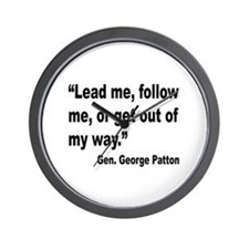 Patton Lead Follow Quote Wall Clock