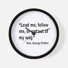Patton Lead Follow Quote Wall Clock
