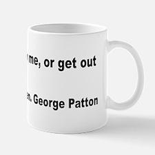 Patton Lead Follow Quote Mug
