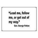 Patton Lead Follow Quote Banner