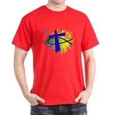 Fish And Cross T-Shirt