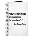 Patton God Have Mercy Quote Journal