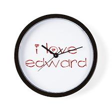 i love edward Wall Clock