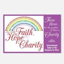 IORG-Faith,Hope,Charity Postcards (Package of 8)