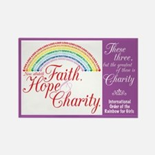 IORG-Faith,Hope,Charity Rectangle Magnet (10 pack)