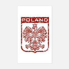 Poland Rectangle Stickers