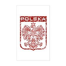Polska Rectangle Stickers