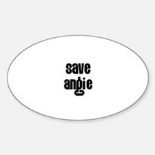 Save Angie Oval Decal