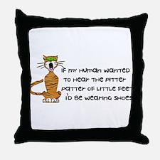Child-Free Kitty Cat Throw Pillow