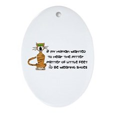 Child-Free Kitty Cat Oval Ornament