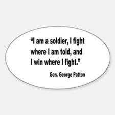 Patton Soldier Fight Quote Oval Decal