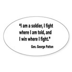 Patton Soldier Fight Quote Oval Sticker (10 pk)