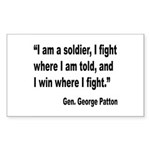 Patton Soldier Fight Quote Rectangle Sticker